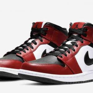 "【4月18日(土)発売】NIKE AIR JORDAN 1 MID ""CHICAGO BLACK TOE"" ¥14,300"