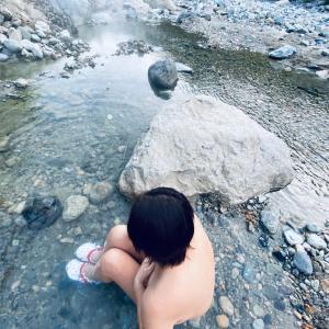 """""""秘境"""" 切明温泉「河原の湯」"""