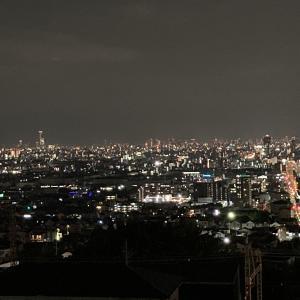 石切の夜景〜大阪城