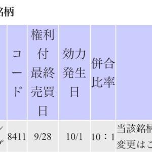 高配当株「みずほファイナンシャルグループ」の株式併合
