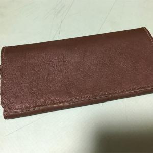 お財布が完成したよ♪ レザークラフト⑦旅行用の長財布