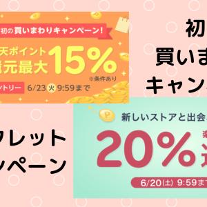 【15%と20%還元】楽天Rebates(リーベイツ)の買いまわり+シークレットキャンペーン