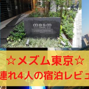 【ブログ】メズム東京!子連れ家族4人の宿泊レビュー:ミシュラン東京4つ星のホテル