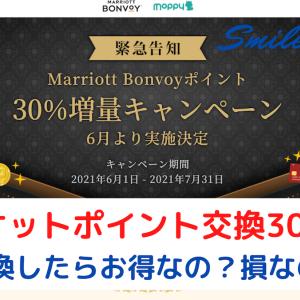 【モッピー】マリオットポイント交換30%増量キャンペーン!