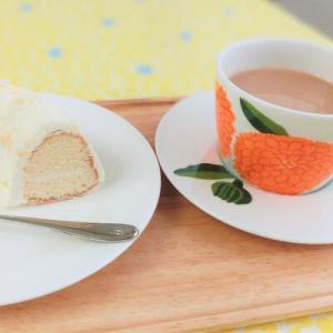バタークリームケーキをプリマヴェーラでフィーカ