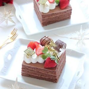 生チョコケーキ de プティクリスマスケーキ☆