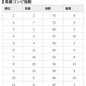10/21 中央競馬(日刊コンピ)結果