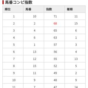 11/10 中央競馬(日刊コンピ)結果