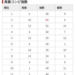 11/23 中央競馬(日刊コンピ)結果