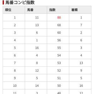 12/21 中央競馬(日刊コンピ)結果