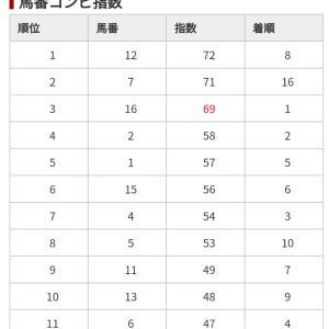 1/11 中央競馬(日刊コンピ)結果