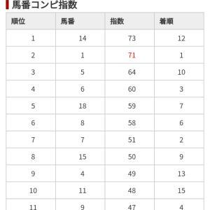 1/18 中央競馬(日刊コンピ)結果