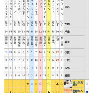 1/19 中央競馬(日刊コンピ)結果