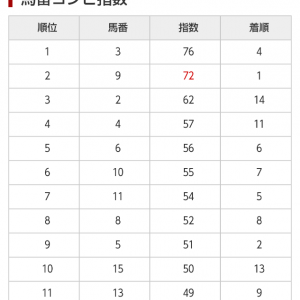 9/20 中央競馬(日刊コンピ)結果