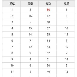 9/21 中央競馬(日刊コンピ)結果