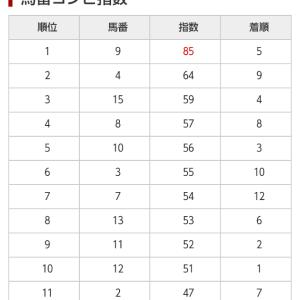 9/26 中央競馬(日刊コンピ)結果