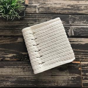 クリップブック風手帳を作って、かぎ針編みでカバーを編みました☆