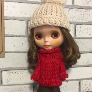 ブライス人形のセーターとニット帽を編んでみました☆blythe doll