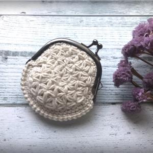 リフ編みでがま口を作りました☆