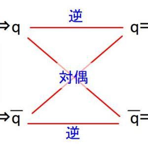 数学入門:「命題の逆/裏/対偶の関係」を、図式を用いて解説!