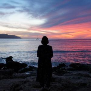 【ハワイin2019】3日目:星空ツアーその4:幻想的な夕焼け(ノースショア/ハレイワ・ビーチ)