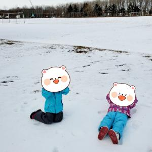 ⛄雪中散歩と六歳臼歯😁