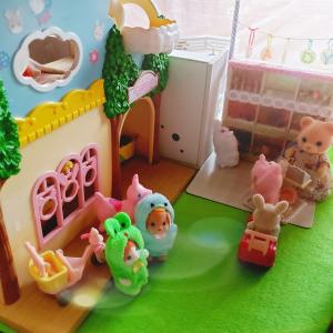 〈ハンドメイド〉Candy屋さん作り🍭 完成 シルバニア村にオープンしました✨ 意外なお客さま来店