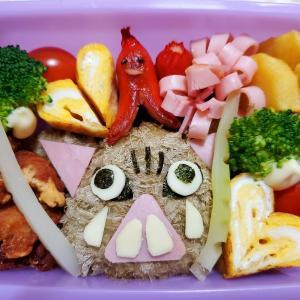 〈子育て〉遠足のお弁当作り✨鬼滅の刃 伊之助のキャラ弁に挑戦! ブロッコリーで日輪刀を作ってみた🥦