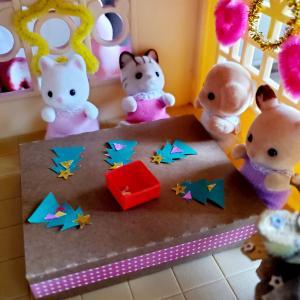 〈シルバニア〉親子で大掃除✨ & クリスマス用装飾🎄 & 遊び心🎵
