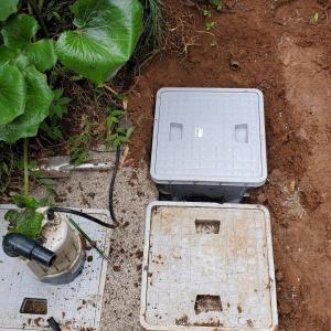 結局もう一個雨水枡濾過槽を作っちゃいました