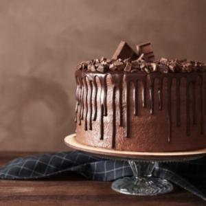 チョコレートケーキをリメイク♡