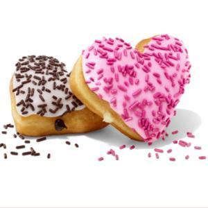 バレンタインデーのドーナツとチョコレート!