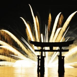 宮島花火大会2019の日程は?雨天でも開催?2020年は中止決定!