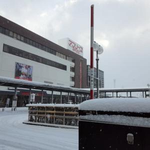 弘前駅の雪景色