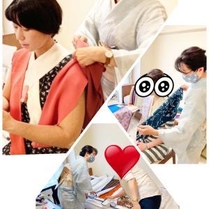着付け教室にて、着物パーソナルカラーと顔タイプ着物診断