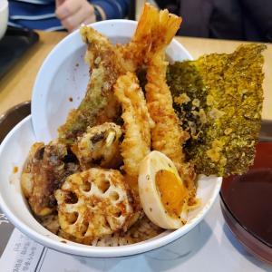 富川で念願の天丼食べて感動