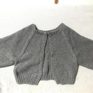 かのこ編みの2Wayニット、編み終わり&水通しました!
