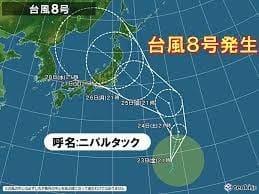 台風8号はクエスチョンマーク??