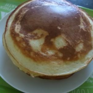 長芋入りホットケーキ作りました!(お好み焼きにも長芋入れるからね)