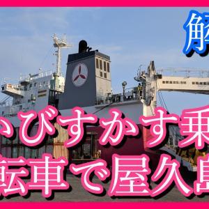 フェリーはいびすかすに自転車を載せて屋久島へ【船内の様子も紹介】
