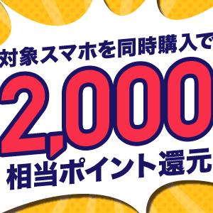 【2020年7月】BIGLOBEモバイル 月額400円×6ヶ月+エンタメフリー6ヶ月無料+スマホセット12000円還元