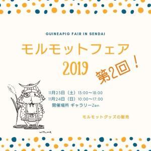2019/11/23・24(土日)モルモットフェア2019in仙台 開催!
