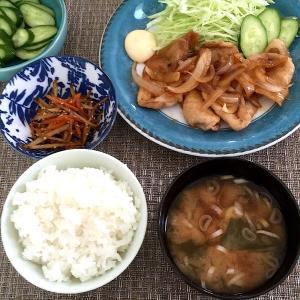 お昼ごはん☆豚の生姜焼き