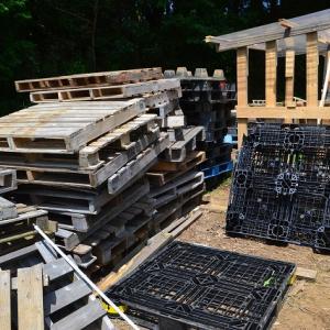 木製パレットもゲット!