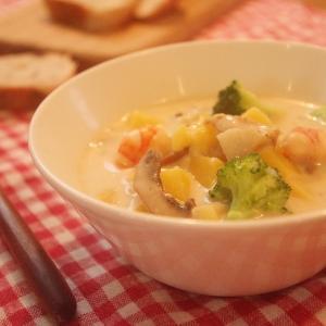 ルーを使わない簡単クリームスープ!と二人育児3週間目の感想