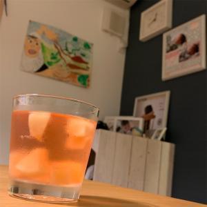 桃のスパークリングワイン♥