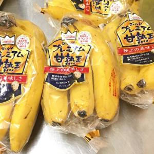 【バナナ】ゴールドプレミアム「甘熟王」ネットリと濃厚な旨味!もっちりとした食感で美味しい!!