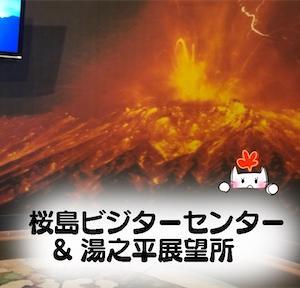 【桜島ビジターセンター】桜島の歴史を知る&一般の人が近づける最高地点【湯之平展望所】