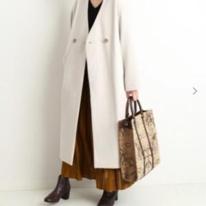 今が買い時!増税前&品揃え豊富な今のうちにアウターを選ぼう!昨年から引き続き大人気のコート!「ノーカラーVネックコート」