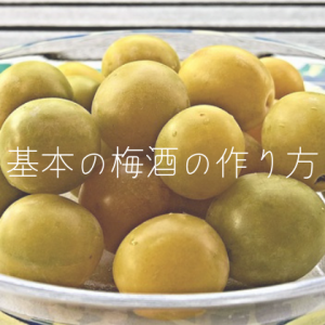 【簡単レシピ】基本の梅酒の作り方【おすすめ自家製梅酒】